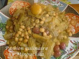 cuisiner des cardons tajine aux cardons et pois chiche culinaire by minouchka