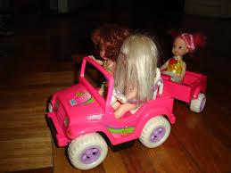 barbie jeep coleccion barbie jeep para muñeca kelly con 3 muñecas