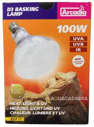 uva and uvb light arcadia d3 reptile basking lamp 80w 100w 160w generation 2 heat
