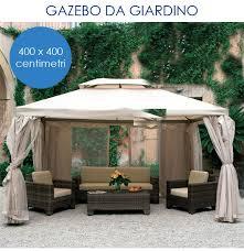 giardini con gazebo gazebo da giardino struttura in alluminio con teli zanzariera 4x4m