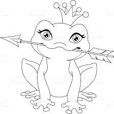 frog princess coloring page stock vector art 636339270 istock