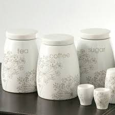 ceramic tea coffee sugar jars canister set of 3 kitchen storage