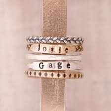 personalized stackable rings custom ring sterling silver stacking ring personalized by smmade