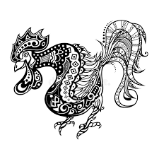 vector tribal decorative rooster stock vector illustration of