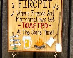 Fire Pit Signs by Custom Personalized Signs U0026 Gifts For All By Creativedesigns77