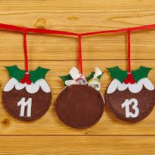 christmas pudding felt advent bunting trade u0026 wholesale party