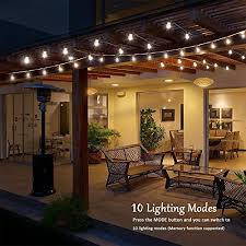 hanging globe lights indoors g40 globe string lights with 15 clear bulbs iegeek led party lights