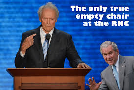 Clint Eastwood Chair Meme - the only true empty chair at the rnc the gop may want to forget