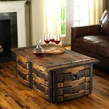 coffee tables attractive make wine barrel coffee table ice chest