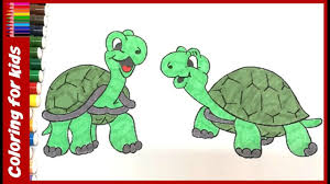 preschool coloring pages color turtle coloring pages
