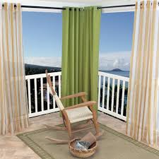 Sunbrella Curtains With Grommets by Green Polyester Outdoor Curtains With Grommets Dfohome