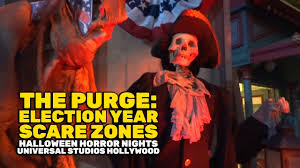 the purge election year scare zones at halloween horror nights