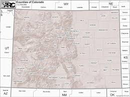 Colorado Maps by Colorado Maps Counties Habitats Etc Coparc