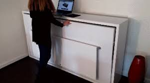 Fold Away Desk by Hover Space Saving Murphy Bed Desk