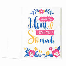 mothers day card retro floral s day card