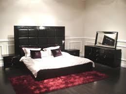 Black Contemporary Bedroom Furniture Modern Bedroom Set Glam Black