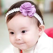 flower hair band baby girl elastic hair band floral dot flower hair accessories at