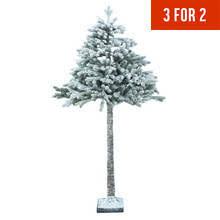 half christmas tree collection 6ft snowy half christmas tree christmas tree offer deal