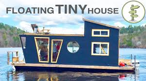 living on a 4 season houseboat beautiful floating tiny house