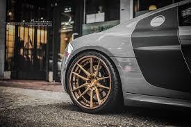 Audi R8 Gold - grey audi r8 v10 brixton forged m53 targa series 3 piece step