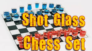 shot glass chess set with checkers drinking chess set review