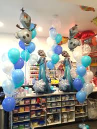 airwalker balloons delivered frozen party with elsa airwalker balloons olaf supershapes and