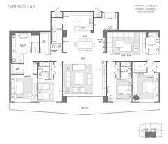 Pent House Floor Plan by Parque Towers At St Tropez Parque Platinum