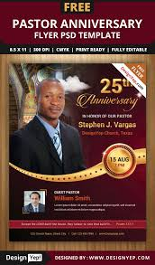 free pastor anniversary program templates best template examples