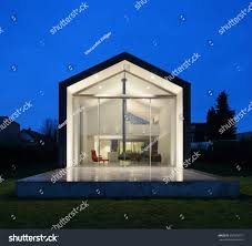 beautiful interiors modern house view exterior stock photo beautiful interiors of a modern house view from exterior