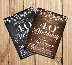 40th birthday invitations 14 free psd vector eps ai format