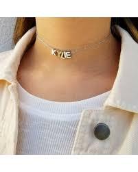 customized necklace tis the season for savings on name choker initial choker