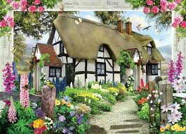 country cottage cottage 1000 jigsaw puzzle jigsaw store