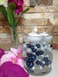 pearl vase fillers easy diy floating pearl centerpiece 90pc navy blue white