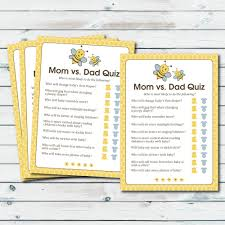 printable halloween trivia quiz mom vs dad quiz baby shower game printable baby shower game