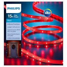 Red Lighting Philips 15ft Led Flat Lights Red Target