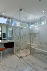 cultured marble shower used to modern bathroom with vanity stool