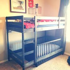 Loft Bed With Crib Underneath Loft Bed With Crib Underneath 3 Images Of Bunk Bed With Crib