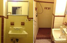 yellow tile bathroom ideas vintage yellow tile bathroom home design and decorating