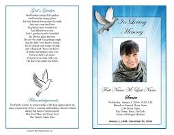 Free Funeral Programs Peace Dove Clipart Funeral Program Pencil And In Color Peace