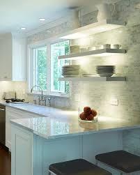 floating kitchen shelves with lights floating shelves with undermount lighting modern kitchen