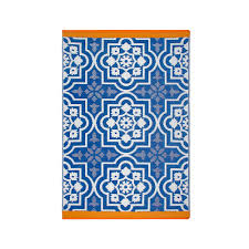 Target Outdoor Rug by Fab Hab Puebla Outdoor Rug In Blue Outdoor Rugs And Gardens