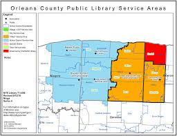 New Orleans State Map by Orleans County Find Your Public Library In New York State