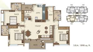Luxury 2 3 BHK Apartments in Bharuch House plan for Narayan