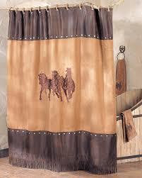 Western Style Shower Curtains Western Shower Curtains Running Shower Curtain Lone