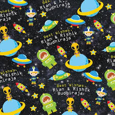space wrapping paper gift wrapping solutions for kids my baby babbles