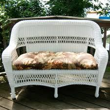 Wicker Settee Replacement Cushions Classic Coastal Avalon Wicker Settee Wicker Com