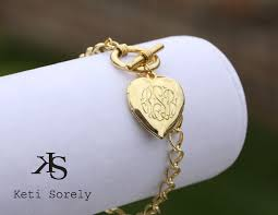 monogrammed locket personalized heart locket bracelet monogram initilas
