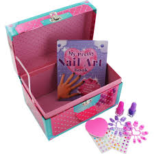 my pretty nail art kit set style book nail polish emery board gems
