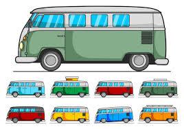 volkswagen van clipart vw camper vector pack download free vector art stock graphics