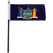 New York 6 Flags New York Flag 4 X 6 Inch